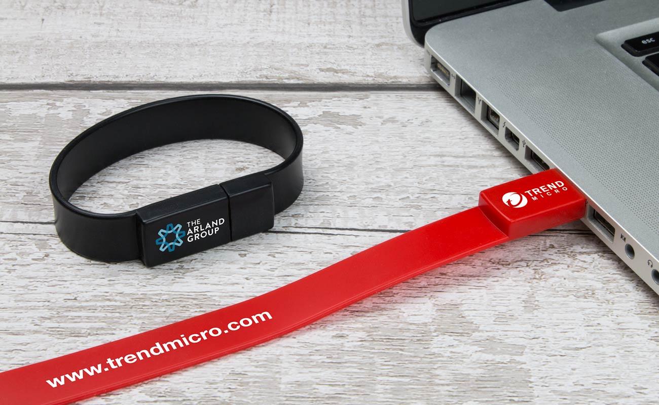 Lizzard - Branded USB Wristbands